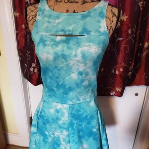 Two Piece Retro Watercolor Tank & Skirt or dress
